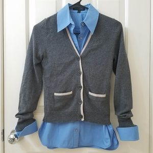 GAP Charcoal Gray Soft Cardigan Sweater EUC